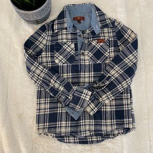 ⬇️7 for all mankind Boys Plaid Shirt Size 7